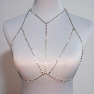 ✨NEW Silver Rhinestone Body Chain Harness✨